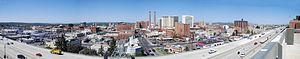 Panorama of Downtown Spokane, Washington looki...