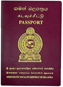 Visa requirements for Sri Lankan citizens - Wikipedia on