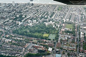 St. Ann's Well Gardens, Hove - From a light aeroplane