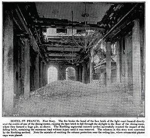 Westin St. Francis - Damage to the dining room from the 1906 fire subsequent to the great earthquake
