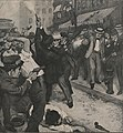 St. Louis Streetcar Strike 1900 -- fatal conflict between strikers and posse.jpg