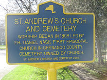 St. Andrews Church and cemetery, New Berlin, NY.