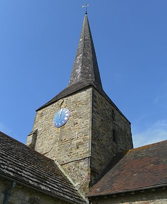 St Giles' Church, Horsted Keynes - The tower is topped with a landmark spire.