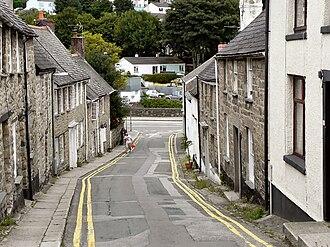 Penryn, Cornwall - Image: St Gluvias Street, Penryn (Geograph 2015028)