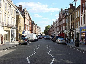 English: St John's Wood High Street This is th...