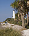St Marks NWR-Lighthouse With People On The Beach By Carole Robertson.jpg
