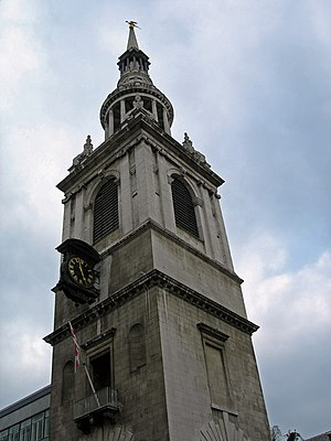 St Mary Le Bow, Cheapside EC2 (2, spire) - geo...