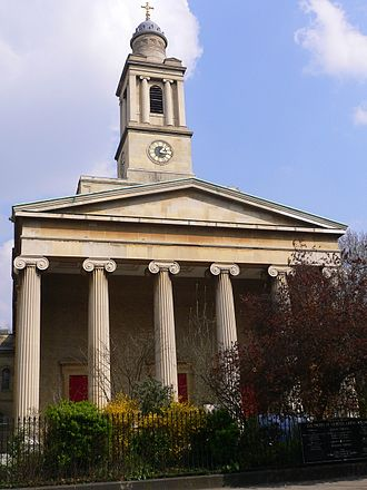 St Peter's Church, Eaton Square - Southwest front of St Peter's