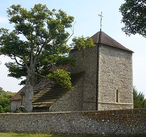 Grade I listed buildings in Brighton and Hove - Image: St Wulfran's Church, Ovingdean 20