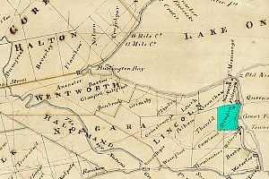 Stamford Township - Stamford Township in 1818, highlighted in green.