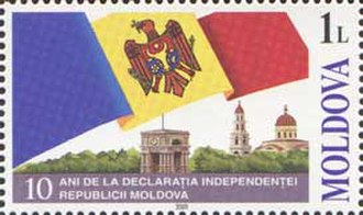 Moldovan Declaration of Independence - 2001 stamp