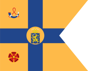 Flags of the Dutch royal family - Image: Standard of the Princesses of the Netherlands (Daughters of Queen Juliana)