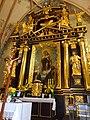 Stary Wiśnicz - Kościół św. Wojciecha, glówna nastawa ołtarzowa AL01.jpg