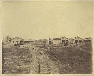 Maryborough railway station, Queensland - Maryborough railway station yard, 1882