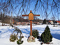 Stations of the Cross in the Church of Saint Dorothy in Cieksyn (outside) - 01.jpg