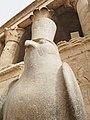 Statue of Horus in the Temple of Edfu - panoramio.jpg