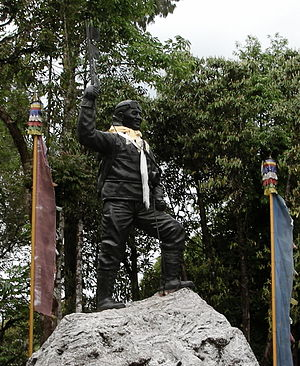 Tenzing Norgay - Statue of Norgay at the Himalayan Mountaineering Institute