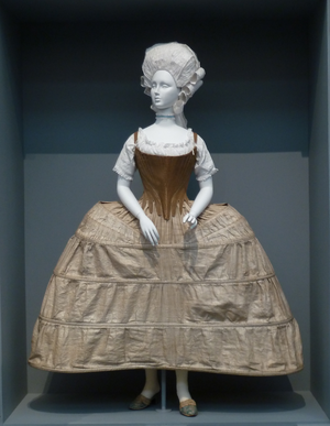 Stays or , English, c. 1780. Linen twill and ....