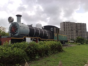 Lokmanya Tilak Terminus railway station - Image: Steam engine outside Lokmanya Tilak Terminus