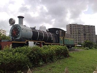Lokmanya Tilak Terminus railway station - Image: Steam engine outside Lokmanya Tilak Terminus