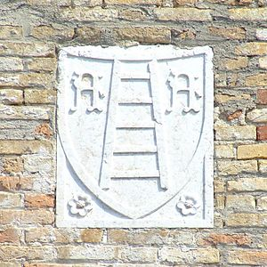 Scaliger - The Scaliger insignia on the Sirmione Castle.
