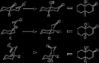 Robinson annulation - Stereochemical pathways of Robinson annulation