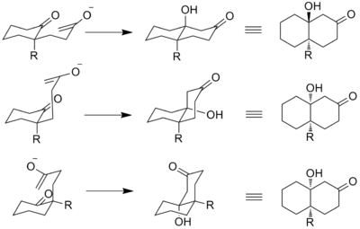 Stereochemical pathways of Robinson annulation