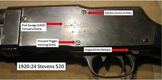 Stevens Model 520/620 - Stevens Model 520 (1920-1924)