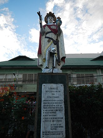 Ferdinand III of Castile - Statue of Ferdinand III (Patio of Metropolitan Cathedral of San Fernando in the Philippines)