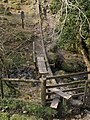 Stile and bridge on the Pipe Track - geograph.org.uk - 383873.jpg