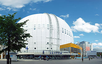 Eurovision Song Contest 2000 - Globe Arena, Stockholm - host venue of the 2000 contest.