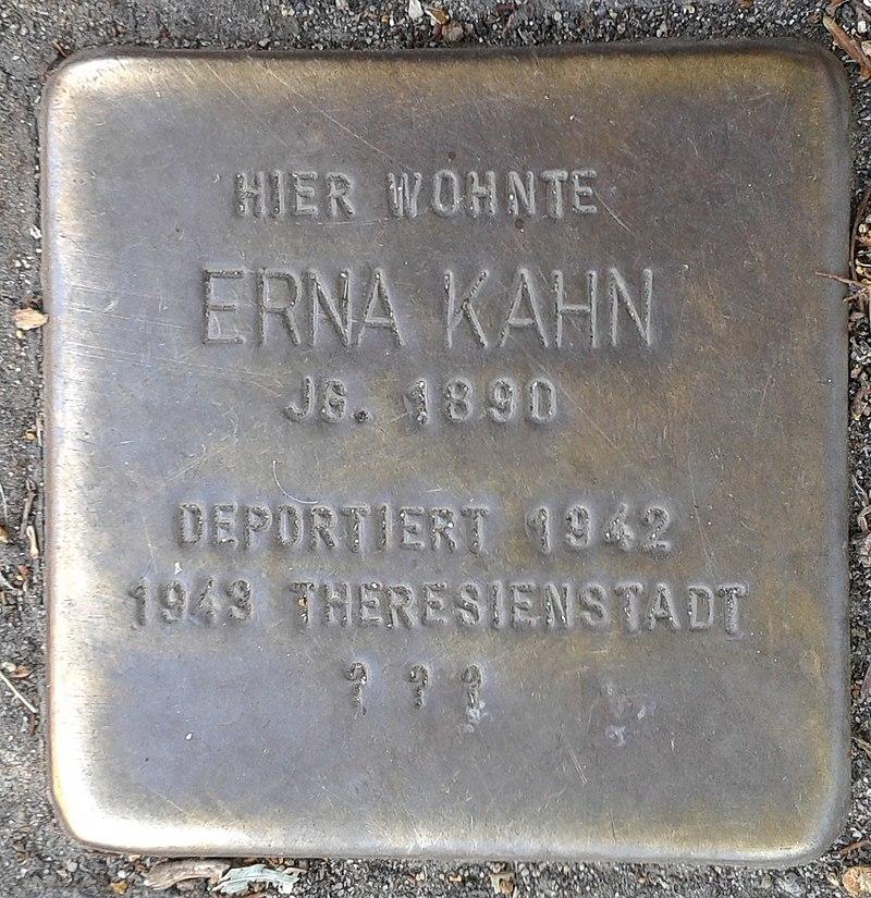 Stolperstein Bergisch Gladbach Bensberger Straße 188a Erna Kahn