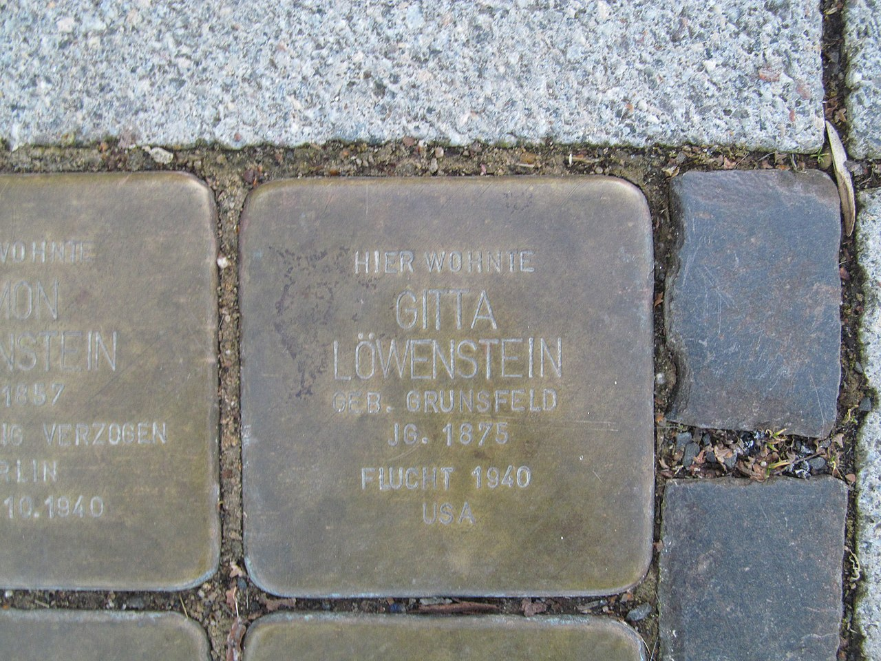 Stolperstein Gitta Löwenstein, 1, Bahnhofstraße 31, Wabern, Schwalm-Eder-Kreis.jpg