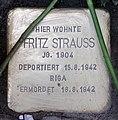Stolperstein Helmstedter Str 29 (Wilmd) Fritz Strauss.jpg