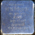 Stumbling block for Meta Berliner (Alexianerstraße 34)