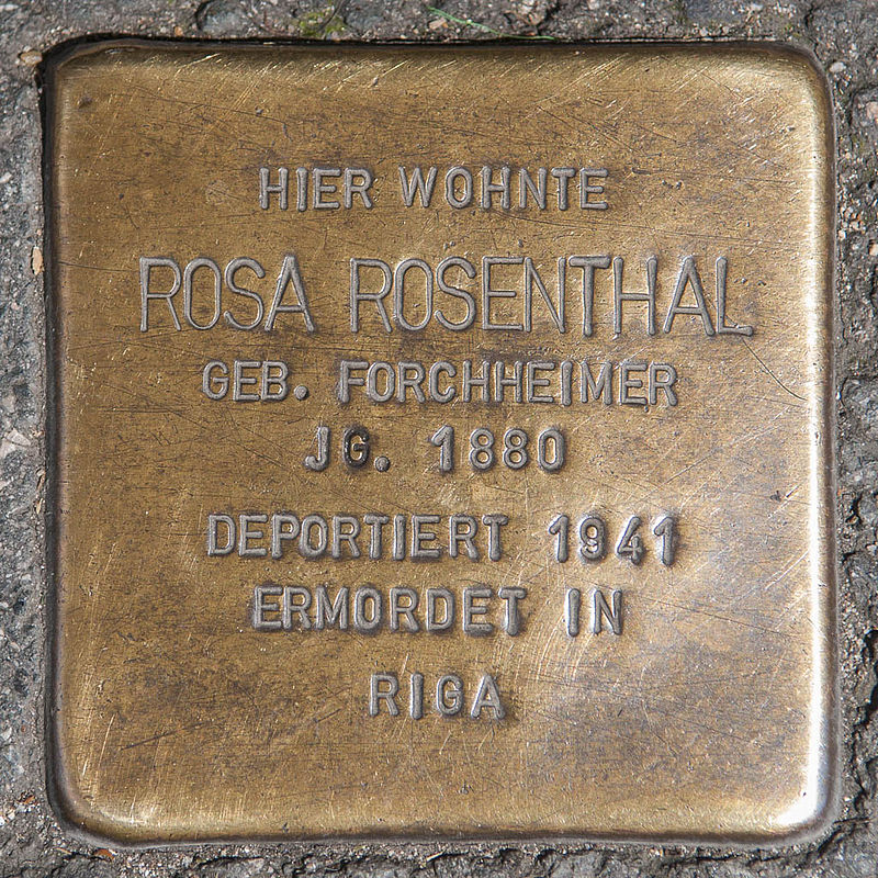Stolperstein Rosa Rosenthal by 2eight 3SC1316.jpg