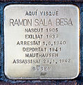 Stolperstein für Ramon Sala Besa 1666-Peralta.jpg