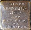 Stumbling block for Hans Walter Simons (Im Dau 12)