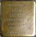 Stumbling block for Josef Dürwerdt (Mathiasstraße 9)
