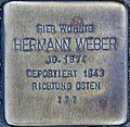 Stumbling block for Hermann Weber (Blaubach 67)