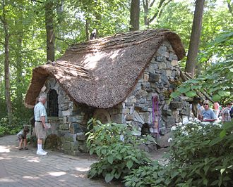 "Winterthur Museum, Garden and Library - A stone cottage in the ""Enchanted Garden"" section of the grounds, opened in 2001 and intended for families with children"