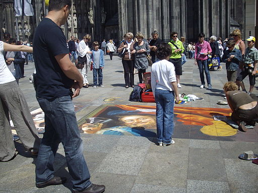 Street painting in Cologne.