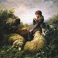 Strickendes Hirtenmädchen 1859.jpg