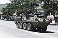 Stryker AFV in Gori downtown going towards Vaziani Military Base, Georgia.jpg