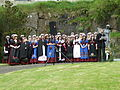 Students in Faroese Custumes and Annika Olsen.JPG