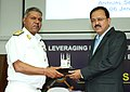 "Subhash Ramrao Bhamre being presented a memento by the Commandant, CDM, Rear Admiral Dushyant Singh Chouhan, at the inauguration of the Annual Seminar on ""Leveraging Defence Expenditure as a tool for Nation building"".jpg"