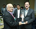 Subhash Ramrao Bhamre being presented a memento by the Director, Research Centre Imarat (RCI), Shri B.H.V.S. Narayana Murthy, during his visit to Dr. A.P.J. Abdul Kalam Missile Complex, Hyderabad.jpg