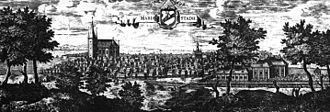 Mariestad - Mariestad circa 1700, in Suecia antiqua et hodierna.