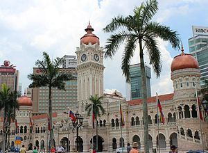 Arthur Benison Hubback - Sultan Abdul Samad Building, first major work in Malaya A. B. Hubback was involved in