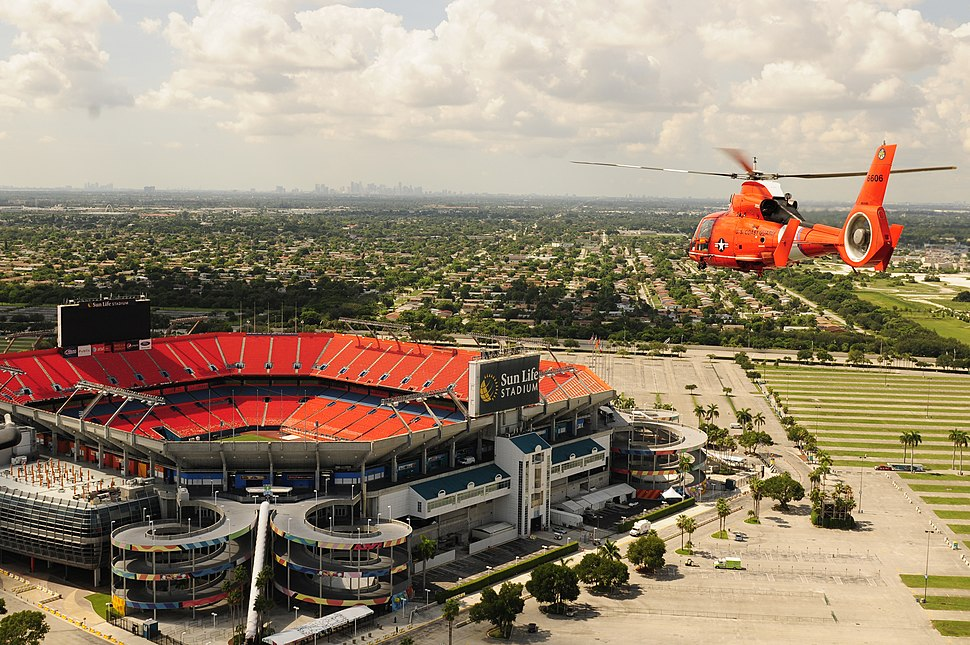 Sun Life Stadium Coast Guard flyover